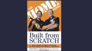 """O livro """"Built from Scratch"""" (""""Construído a partir do Zero"""", em tradução livre), do Bernie Marcus e Arthur Blank, mostra como eles mudaram seus destinos e tornaram seus sonhos realidade ao fundar a Home Depot. Eles retratam os detalhes da fundação e crescimento da companhia, relacionando suas experiências privadas com o negócio e servindo de exemplo para qualquer empreendedor."""